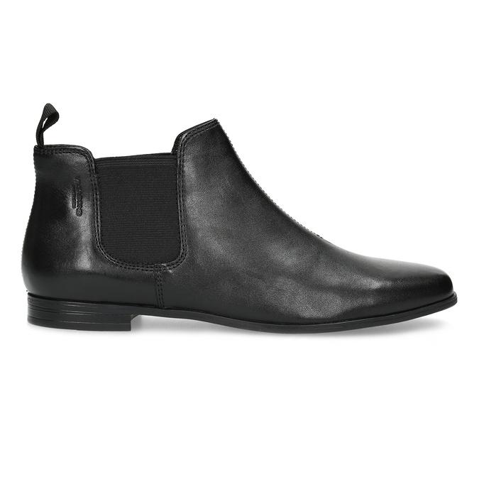Černé kožené Chelsea Boots vagabond, černá, 514-6097 - 19