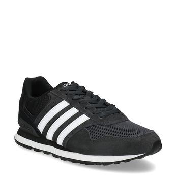 Černé pánské tenisky z broušené kůže adidas, černá, 803-6293 - 13