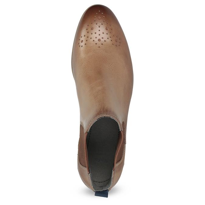 Dámská kožená Chelsea obuv bata, hnědá, 596-3684 - 17