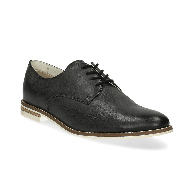 Kožené dámské polobotky bata, černá, 526-6650 - 13