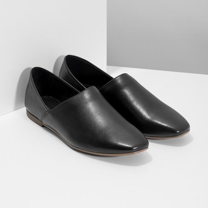 Kožené dámské Slip-on černé vagabond, černá, 514-6096 - 26
