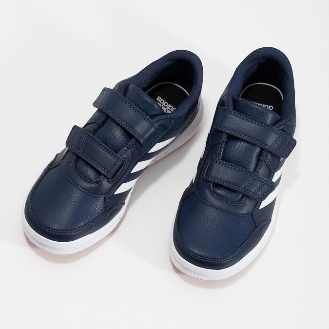 Modré dětské tenisky na suché zipy adidas, modrá, 301-9151 - 16
