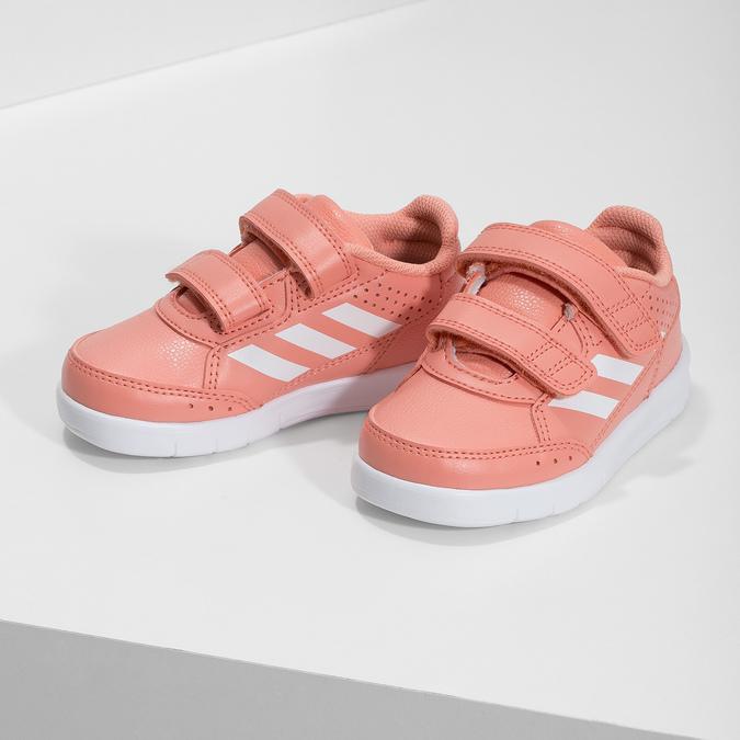 Dívčí růžové tenisky na suché zipy adidas, růžová, 101-5151 - 16