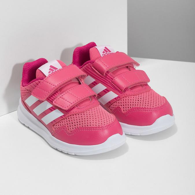 Růžové dětské tenisky adidas, růžová, 109-5147 - 26