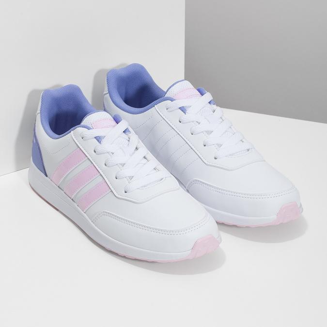Dívčí bílé tenisky s růžovými detaily adidas, bílá, 401-1181 - 26