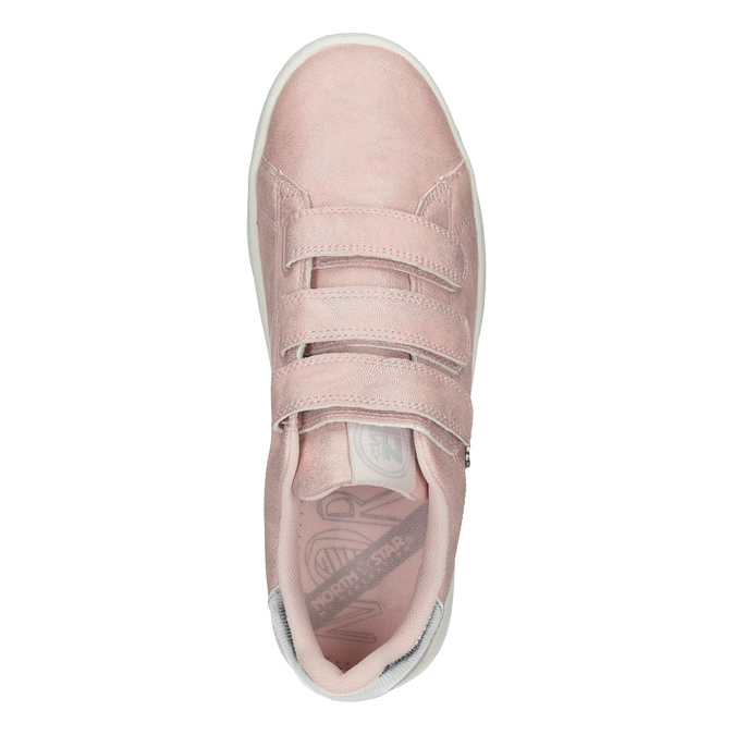 Růžové dámské ležérní tenisky north-star, růžová, 549-5604 - 17