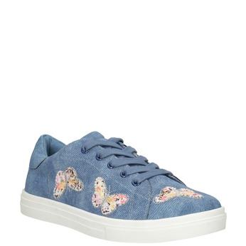 Modré dívčí tenisky s motýlky mini-b, modrá, 321-9618 - 13