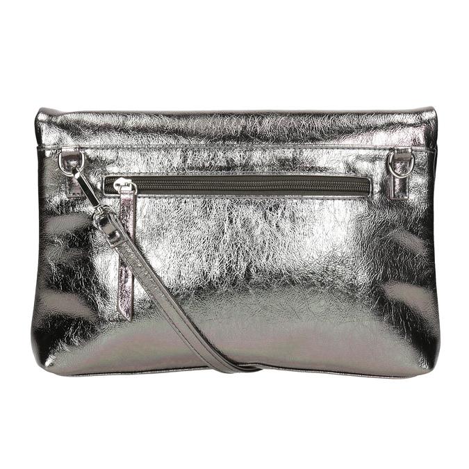 Stříbrná dámská Crossbody kabelka bata, stříbrná, 2021-961-1852 - 16