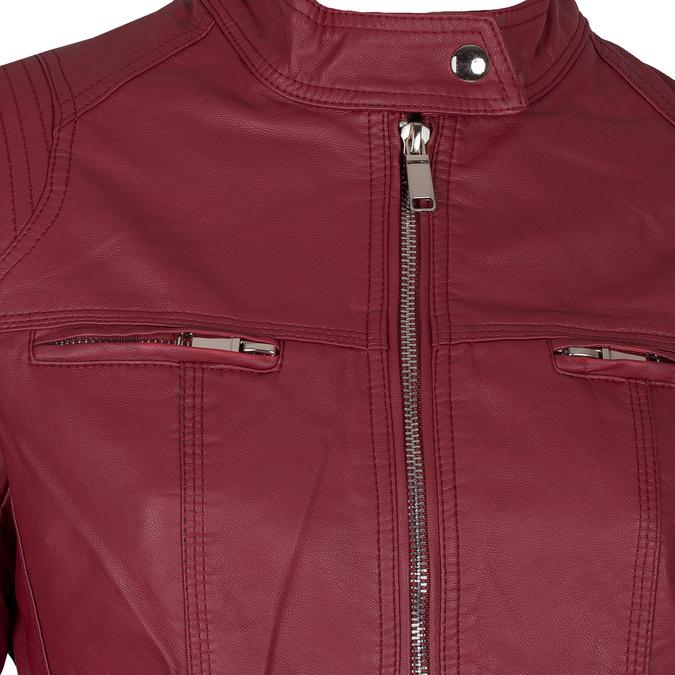 Koženková dámská bunda červená bata, červená, 971-5206 - 16
