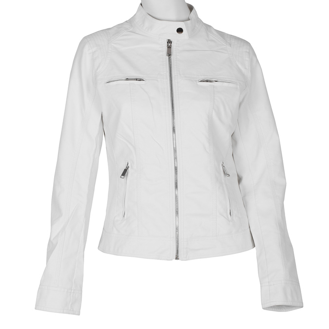 Dámská koženková bunda bílá bata, bílá, 971-1206 - 13