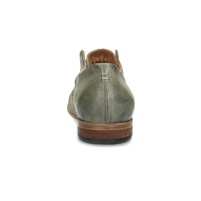 Pánské kožené polobotky bez šněrování a-s-98, khaki, 826-7019 - 15