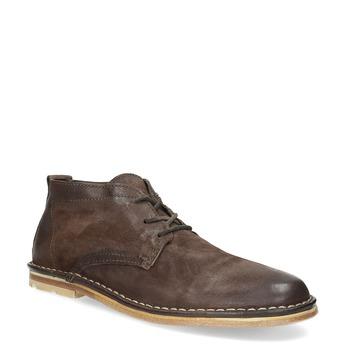 Pánská kožená kotníčková obuv hnědá a-s-98, hnědá, 826-4001 - 13