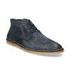 Kožená kotníčková obuv pánská modrá a-s-98, modrá, 826-9003 - 13
