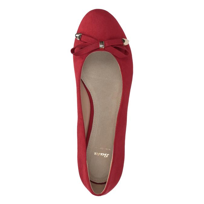 Červené baleríny na klínku bata, červená, 629-5633 - 17