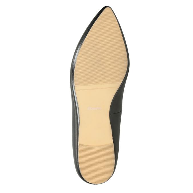 Kožené dámské Loafers s perforací bata, černá, 524-6659 - 19
