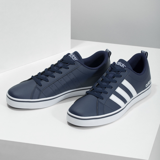 Pánské ležérní tenisky adidas, modrá, 801-9136 - 16