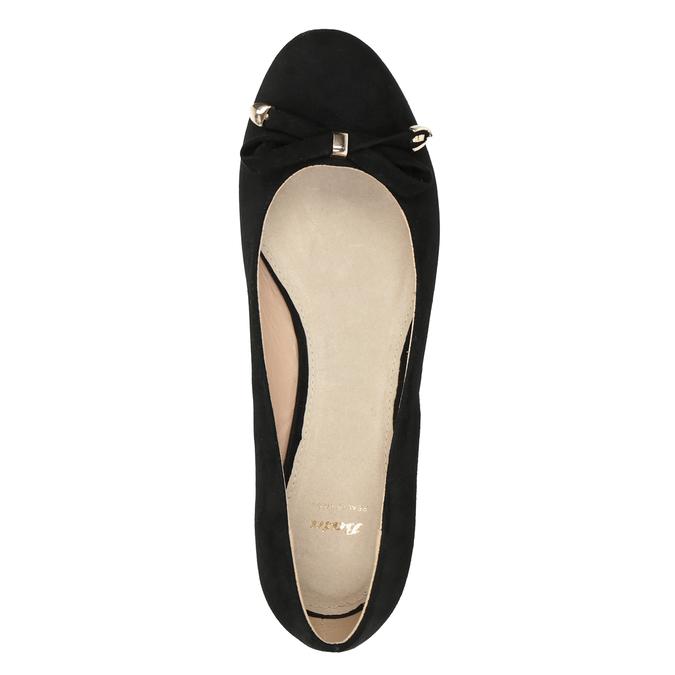 Lodičky na klínku s mašlí bata, černá, 629-6633 - 17