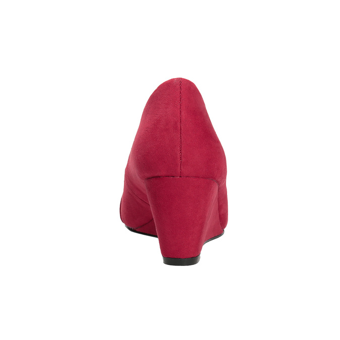 Červené lodičky na klínku insolia, červená, 729-5618 - 15
