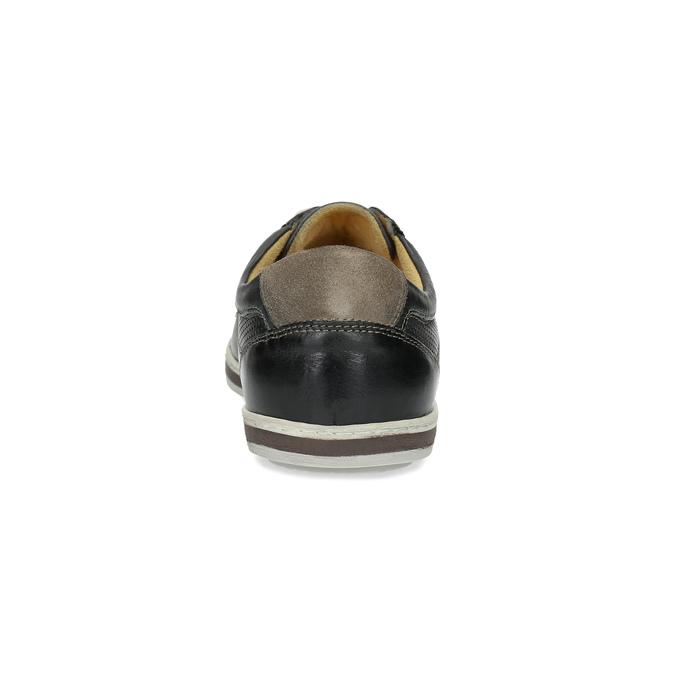 Pánské kožené tenisky bata, černá, 846-6617 - 15