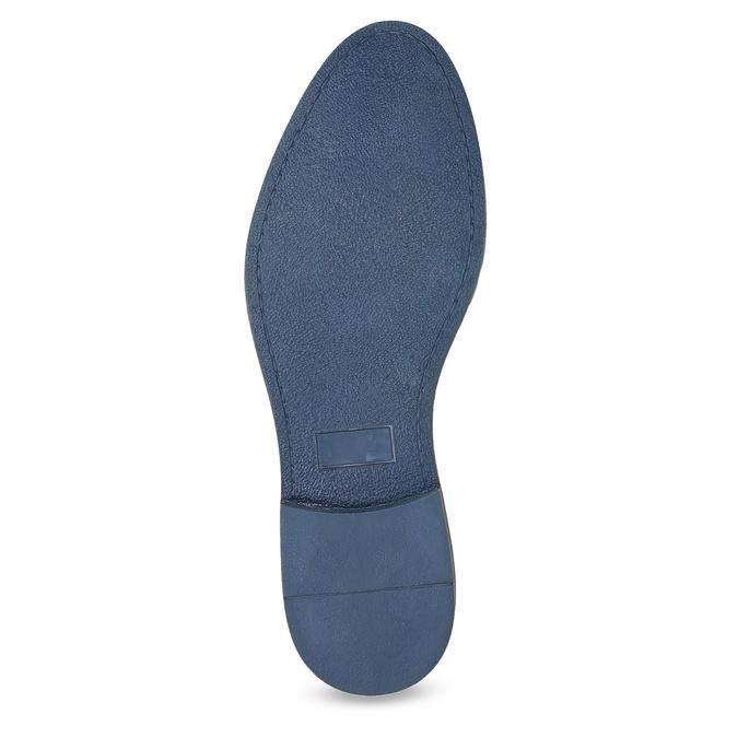 Kožené polobotky s pruhovanou podešví bata, modrá, 823-9600 - 18