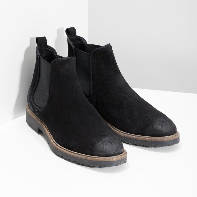 Chelsea Boots z broušené kůže bata, černá, 823-6628 - 26
