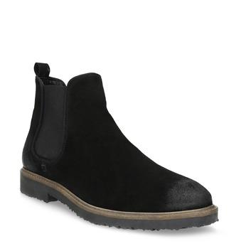 Chelsea Boots z broušené kůže bata, černá, 823-6628 - 13