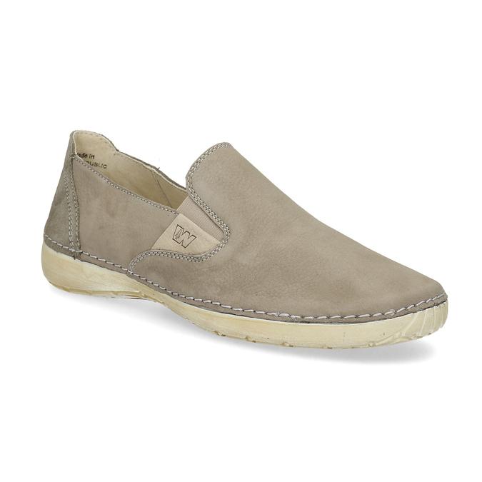 Kožené boty ve stylu Slip-on weinbrenner, béžová, 536-3606 - 13