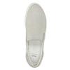 Kožená Slip-on obuv s perforací bata, šedá, 533-2600 - 15