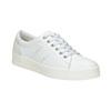 Dámské kožené ležérní tenisky bata, bílá, 544-1606 - 13