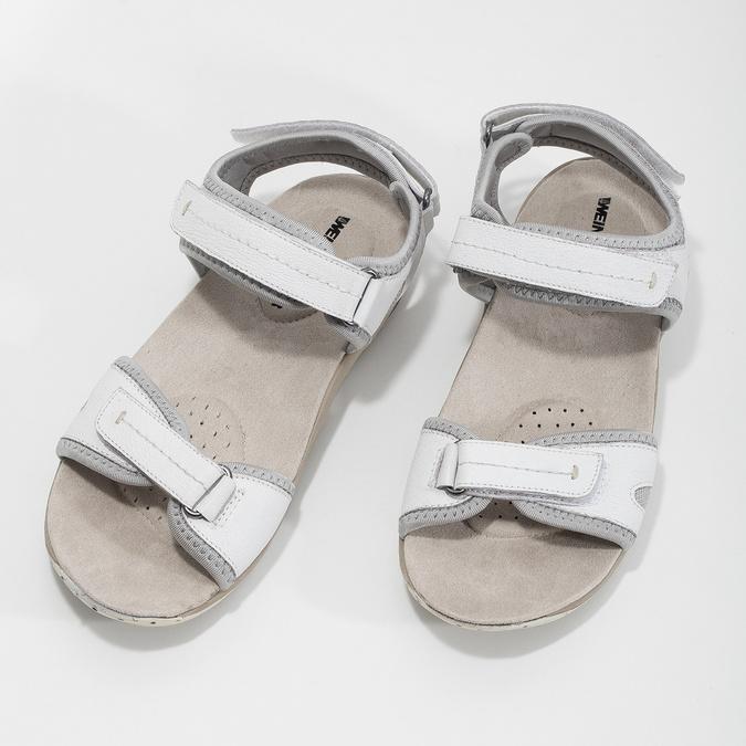 Kožené dámské sandály v Outdoor stylu weinbrenner, bílá, 566-1608 - 16
