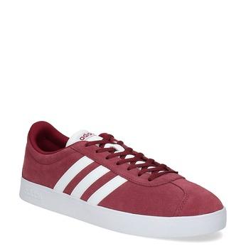 Červené pánské tenisky z broušené kůže adidas, červená, 803-5379 - 13