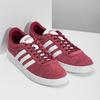 Červené pánské tenisky z broušené kůže adidas, červená, 803-5379 - 26