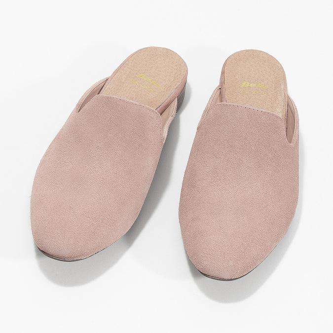 Kožené mokasíny s volnou patou bata, růžová, 516-5620 - 16