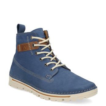 Dámská kožená kotníčková obuv weinbrenner, modrá, 594-9666 - 13