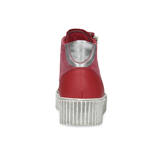 Kožené kotníčkové tenisky červené bata, červená, 596-5692 - 15