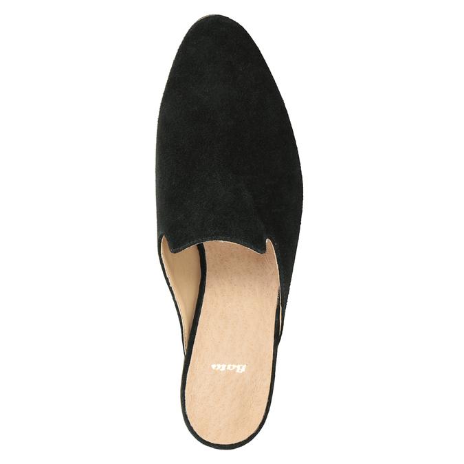 Kožené mokasíny s volnou patou bata, 516-6620 - 15