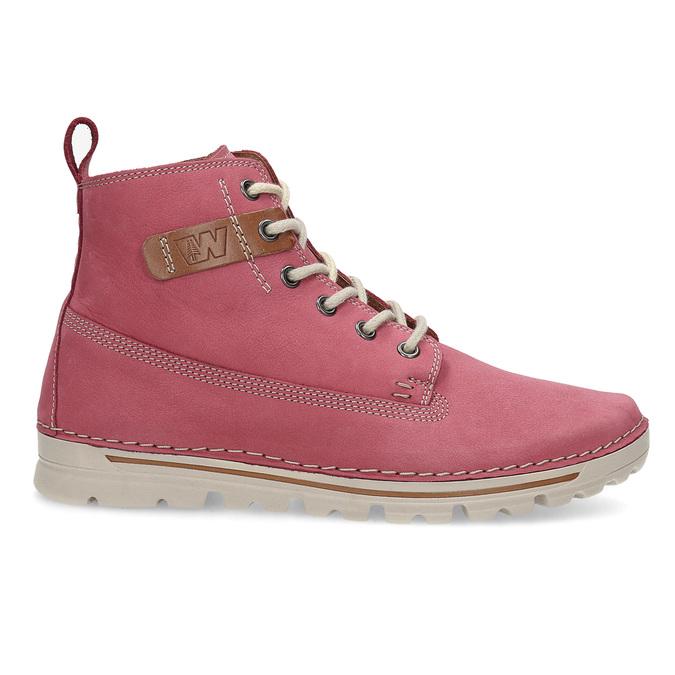 Kožená růžová kotníčková obuv weinbrenner, 594-5666 - 19