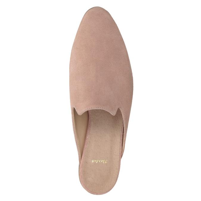 Kožené mokasíny s volnou patou bata, růžová, 516-5620 - 15