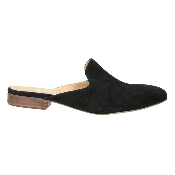 Kožené mokasíny s volnou patou bata, 516-6620 - 26