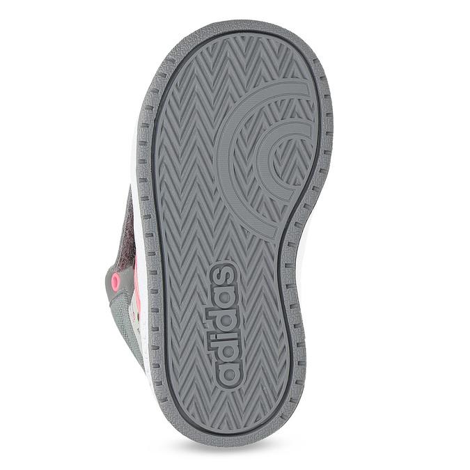 Šedé kotníčkové tenisky s potiskem adidas, šedá, 101-2125 - 18