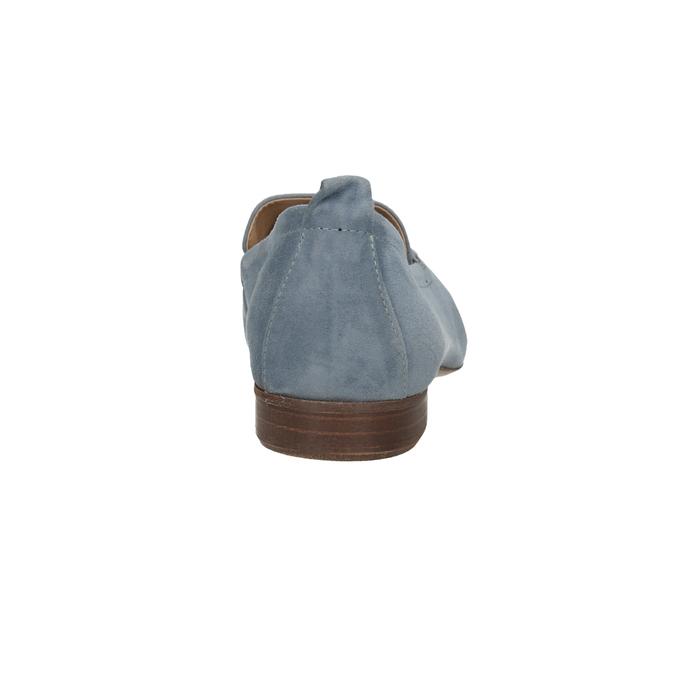 Ležérní mokasíny z broušené kůže bata, modrá, 516-9618 - 15