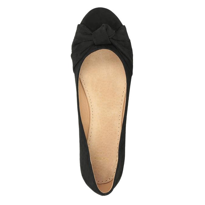 Dámské baleríny s mašlí bata, černá, 529-6637 - 15