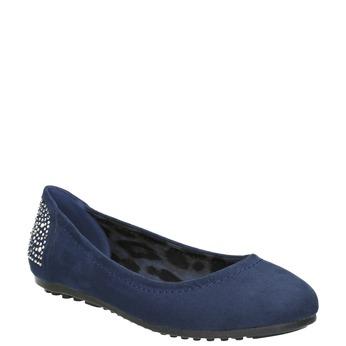 Modré baleríny s kamínky bata, 529-9639 - 13