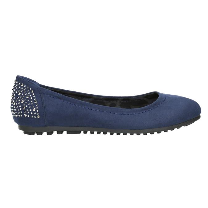 Modré baleríny s kamínky bata, modrá, 529-9639 - 26