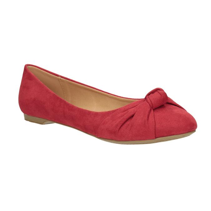 Červené baleríny s mašlí bata, červená, 529-5637 - 13