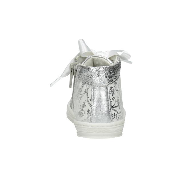 Dětská stříbrná obuv s mašlí bubblegummers, 126-1605 - 15
