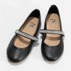 Černé dívčí kožené baleríny se štrasovým páskem mini-b, černá, 326-6601 - 16