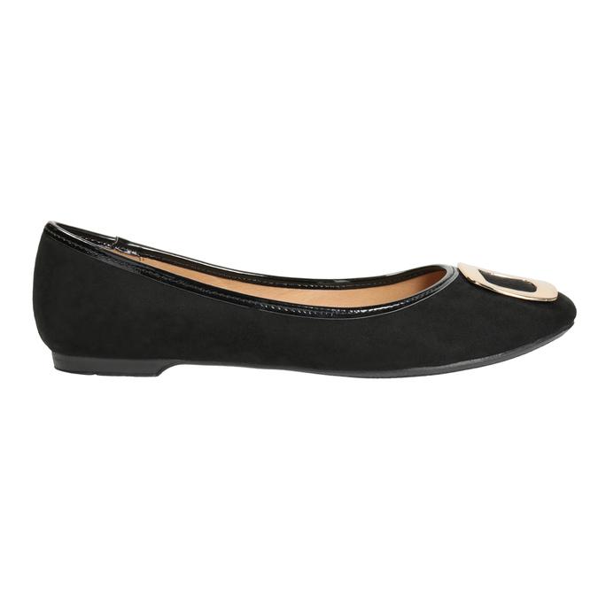 Baleríny se zlatou sponou bata, černá, 529-6638 - 26