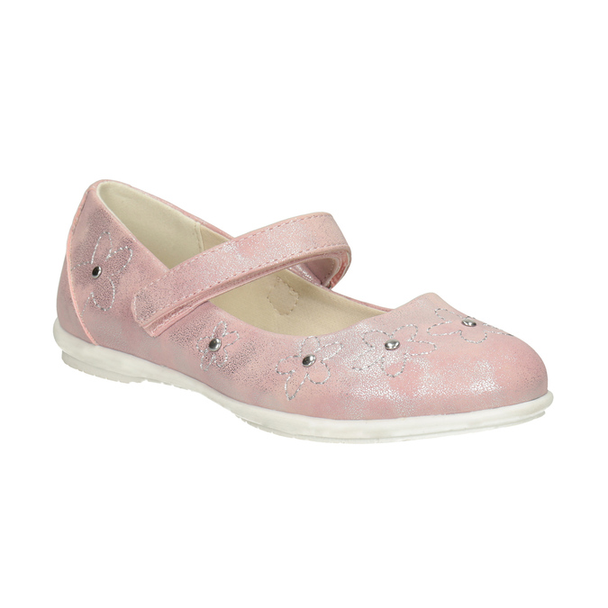 Dívčí růžové baleríny se cvočky mini-b, růžová, 321-5615 - 13