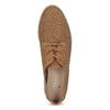 Dámské polobotky s perforací a kamínky bata, hnědá, 529-3636 - 17